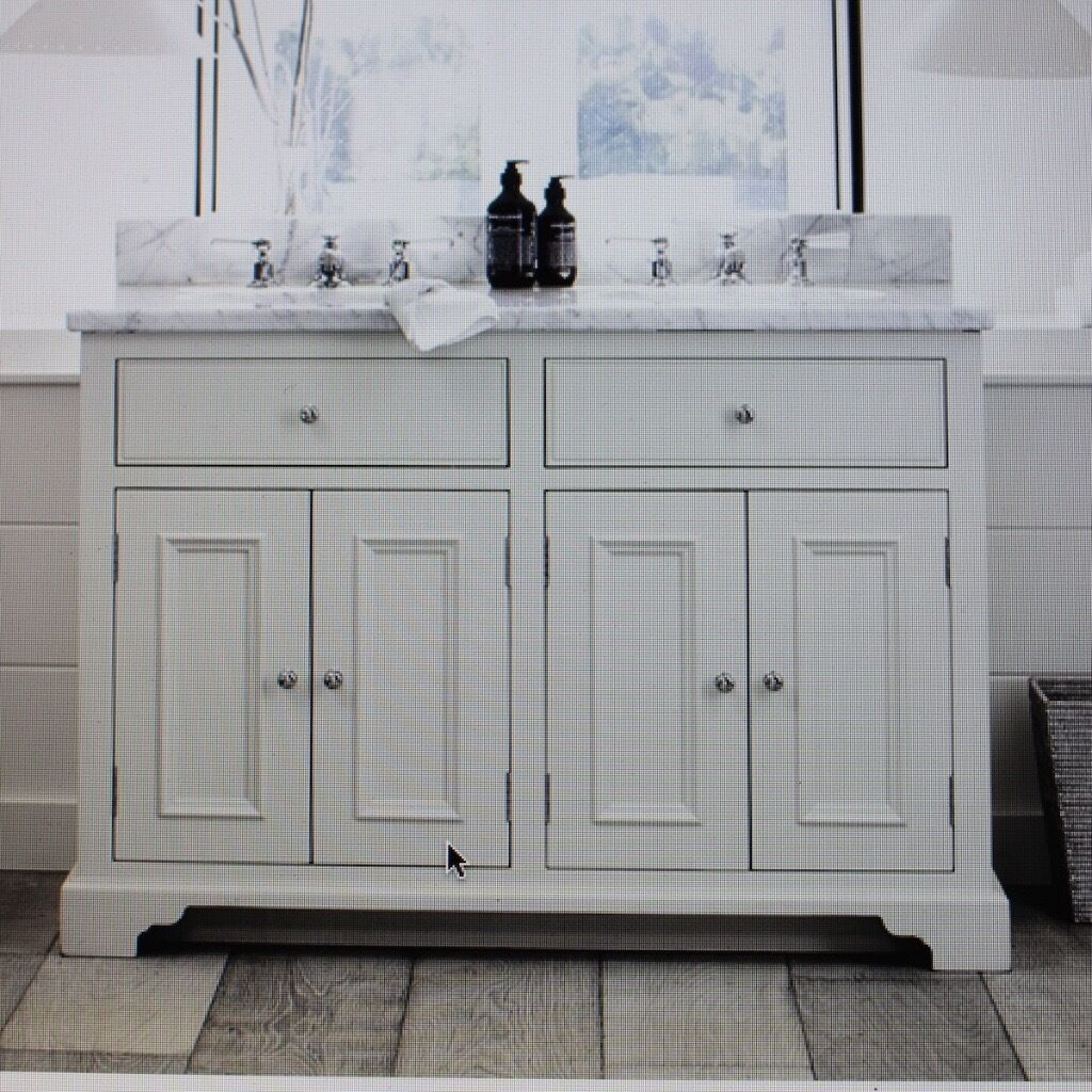 Neptune   Chichester Undercount Double Door Washstand, Including Carara  Marble Top And Upstand