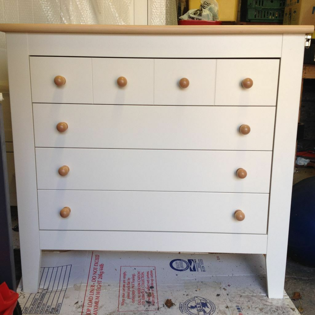 Mamas Papas Savannah Nursery Furniture Set Cotbed Wardrobe Chest