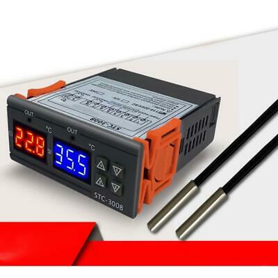 Stc-3008 12v Dual Digital Temperature Controller Electronic Thermostat