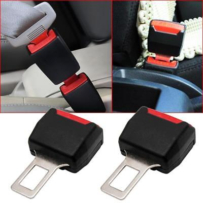 2x Universal Type Car SUV Seat Safety Belt Buckle Extender Alarm Eliminator