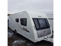 Elddis Supreme 564 4 berth fixed bed/or seating option. SOLID construction