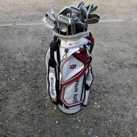 Bag of 25+ iron clubs