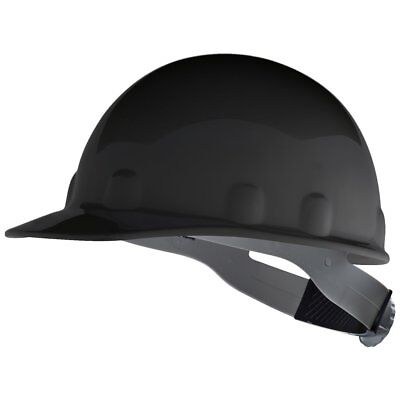 Fibre-Metal Cap Style Hard Hat with 8 Point Ratchet Suspension, Black (Metal Cap Style Hard Hat)
