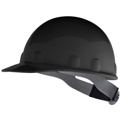 Fibre-Metal Cap Style Hard Hat with 8 Point Ratchet Suspension, Black