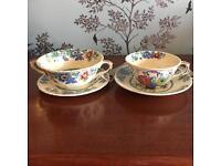 Beautiful pair Mason's Ironstone China cup and saucers