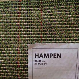 Green IKEA 'HAMPEN' rug for sale