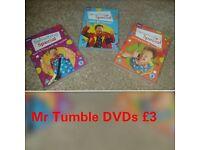 Mr Tumble DVD bundle £3