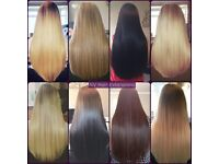 Hair extensions by fully qualified and insured technician. 11 years experience