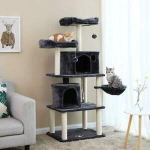 NEW DELUXE 60 IN MULTI LEVEL CAT TREE & SCRATCHING POSTS