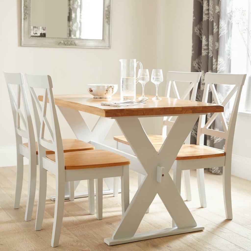 Ideal Home Axxon 120 Cm Dining Table + 4 Chairs BRAND NEW - BOXED ...
