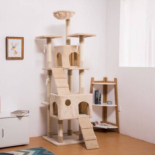 """68"""" Cat Tree Tower Condo Furniture Scratching Post Pet Kitty"""