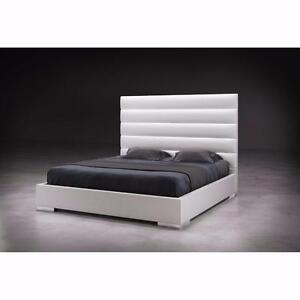 Contemporary & Elegant Upholstered and Foam Padded Queen Bed Clearance