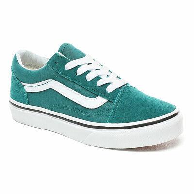 Vans Shoes Sale Kids (VANS KIDS OLD SKOOL Skate Shoes, Quetzal Green/White,)