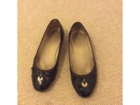 Ladies black leather shoes, Russell & Bromley, size 38