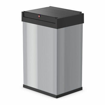 Hailo Waste Bin Dust Trash Disposal Box Big-Box Swing Size L 35L Silver 0840-121