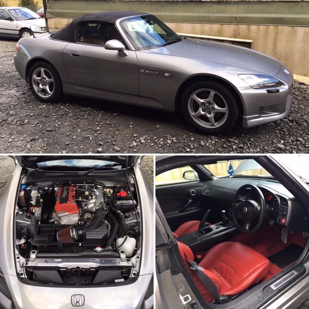2002 Silverstone Silver Honda S2000 2 Seater Convertible Sports Car ...