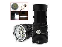 SKYRAY 12 CREE COB LED XM-L T6 FLASHLIGHT TORCH 32000LM SECURITY LAMP & STRAP.⭐️