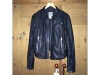 Ladies black leather G-Star Raw biker jacket