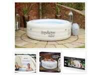 Lay-Z-Spa Vegas luxurious 4-6 Person Hot Tub Includes a Free Canopy Shelter