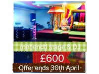 Asian wedding mehendi stages / Mehndi stages / 2018 centre pieces / floor mats best prices !