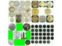 Coin UK coins collection rare two pound £2 one pound £1 fifty pence 50p