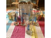 Paolozzi Half Pint beer glasses x7