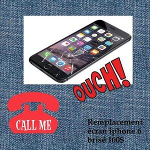 iPhone 4/4s/5/5s/5c/6/6+ repair service /cracked glass/bad unresponsive LCD/call now-514-713-7264