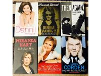 6 Assorted Celebrity Autobiographies