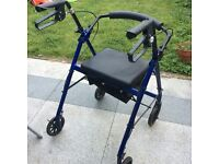 Mobility walking frame 4 wheel Zimmer frame.Good condition.