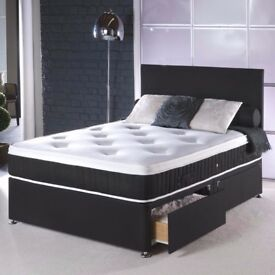 💖💥🔥ONLY LIMITED STOCK💖💥🔥90% Off❤New Double Divan Bed W 2000 Pocket Sprung Memory Foam Mattress