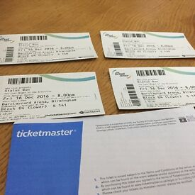 4 x Status Quo Tickets, Last of the Electrics Tour