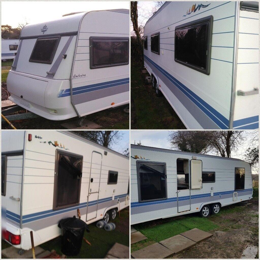 hobby twin axle caravan in pennington hampshire gumtree. Black Bedroom Furniture Sets. Home Design Ideas