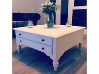 Shabby Chic White Coffee Table