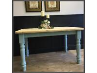 CHUNKY SOLID 5FT PINE FARMHOUSE TABLE RESTORED AS NEW