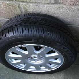 "Audi A3 17"" Alloy and Brand New Goodyear Tyre. Unused"
