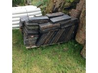 Reclaimed grey roof slates 500+ available two sizes