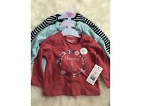 SOLD-BNWT Baby girl tops 3-6 months