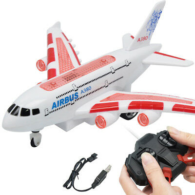 Remote Control Airplane RC Plane Glider Airbus A380 Electric Toy USB Charge