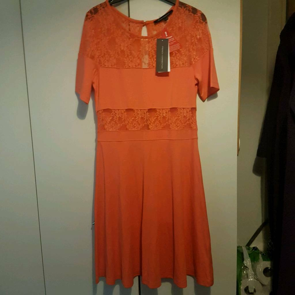 Orange French connection dress size 14 brand new