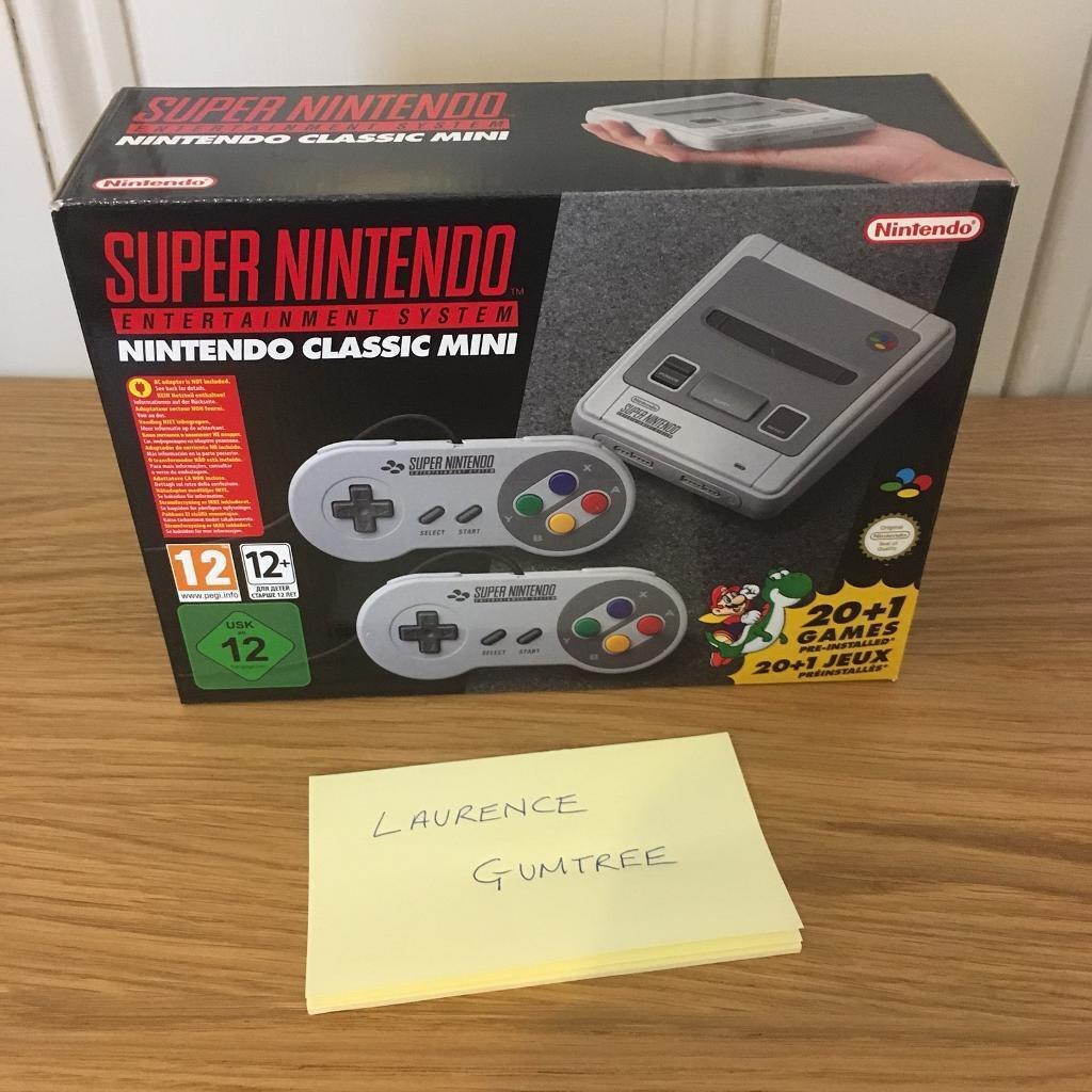 Super Nintendo SNES Classic Mini BRAND NEW