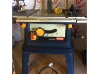 Ryobi Table Saw ETS 1525SC used but good condition home use only , comes with transformer.