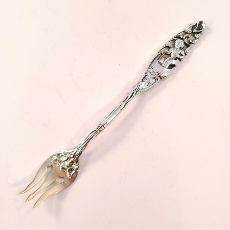 Antique Dominick & Haff Sterling Seafood Fork Labors of Cupid