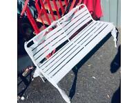 Metal 2 seater Garden bench -Grey