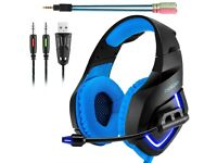 **NEW** PS4 XBOX Gaming Headset BLUE