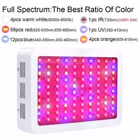 High Quality Grow tent 120x120x200 - 2x 800w LED grow lights - 3x Air Pots+Trays - Digit Socket Time