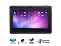 """7"""" inch Android 4.4 Quad Core Tablet PC MID 8GB Dual Camera Wifi Bluetooth Black"""