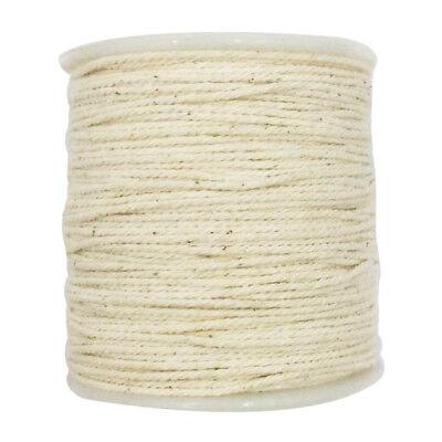 1mm Natural Cotton Rope Macrame DIY Plant Hanger Making Knitting Cord String