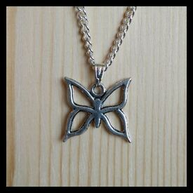 Silver Plated Necklace With Butterfly Pendant