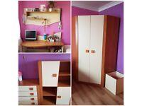 Bedroom furniture set wardrobe desk chest of drawer cabinet toy box