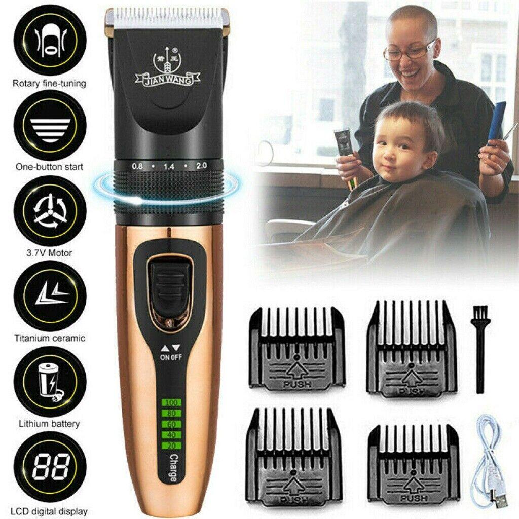 LCD Keramik Haarschneidemaschine Bartschneider USB Trimmer Rasierer 5 Stufen Set